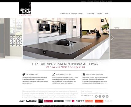show home concept site internet administrable agence web taonix. Black Bedroom Furniture Sets. Home Design Ideas
